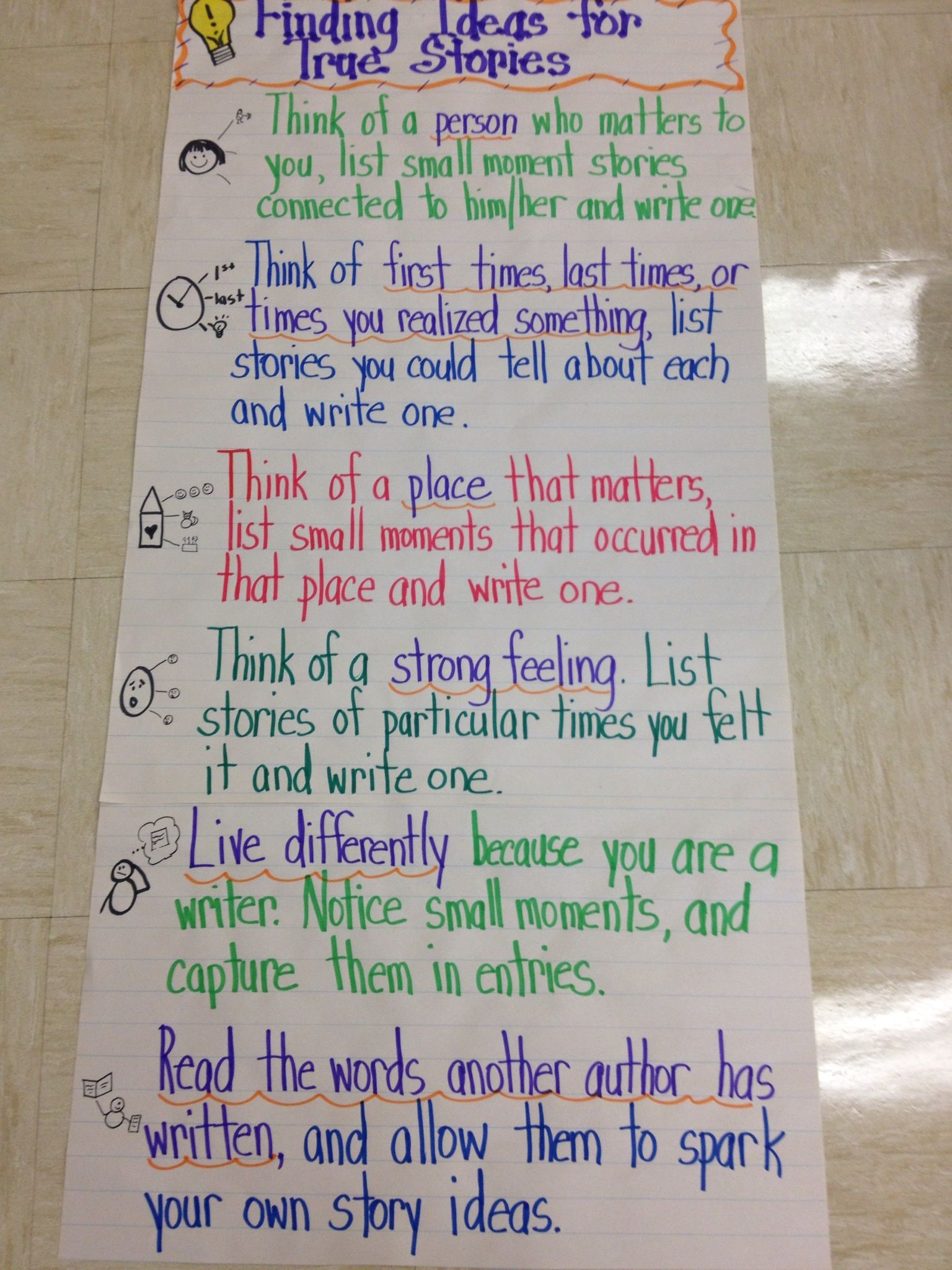 anchor chart for personal narrative writing | education | pinterest