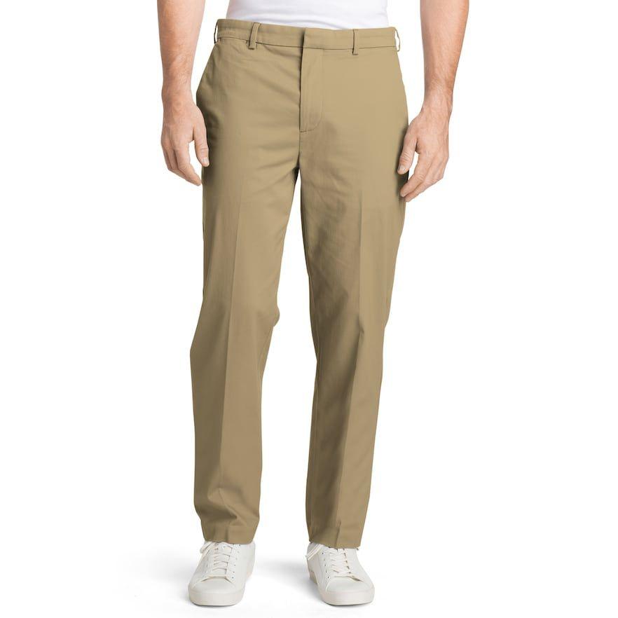 IZOD Mens Slim Fit Advantage Performance Stretch Flat Front Chino Pant