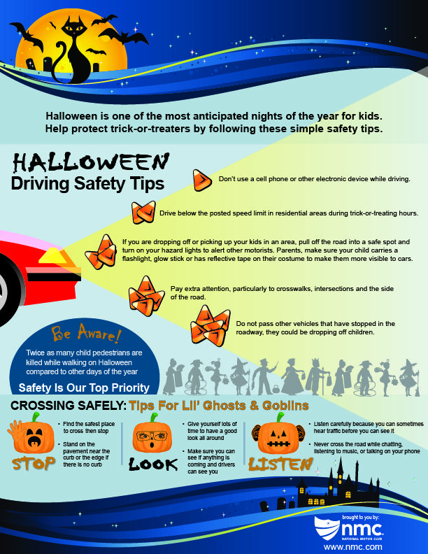 Halloween Safety Tips Infographic NMC News Halloween