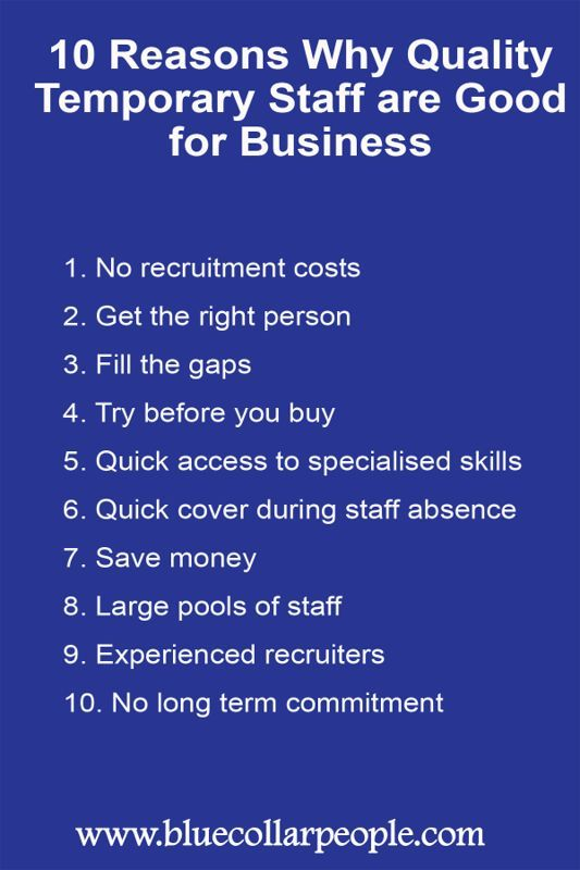 10 Reasons Why Quality Temporary Staff Are Good For Business Perth Blue Collar People Staffing Agency Staffing Agency Business Staffing Agency Marketing