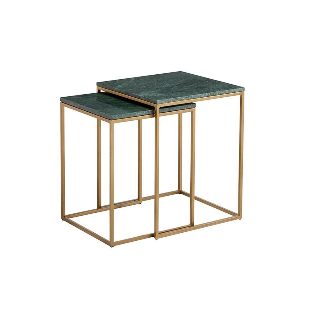 Kensington Green Marble Nest Of Side Tables By Content By Terence Conran Tables Aria London Aria Side Table Green Marble Modern Table Design