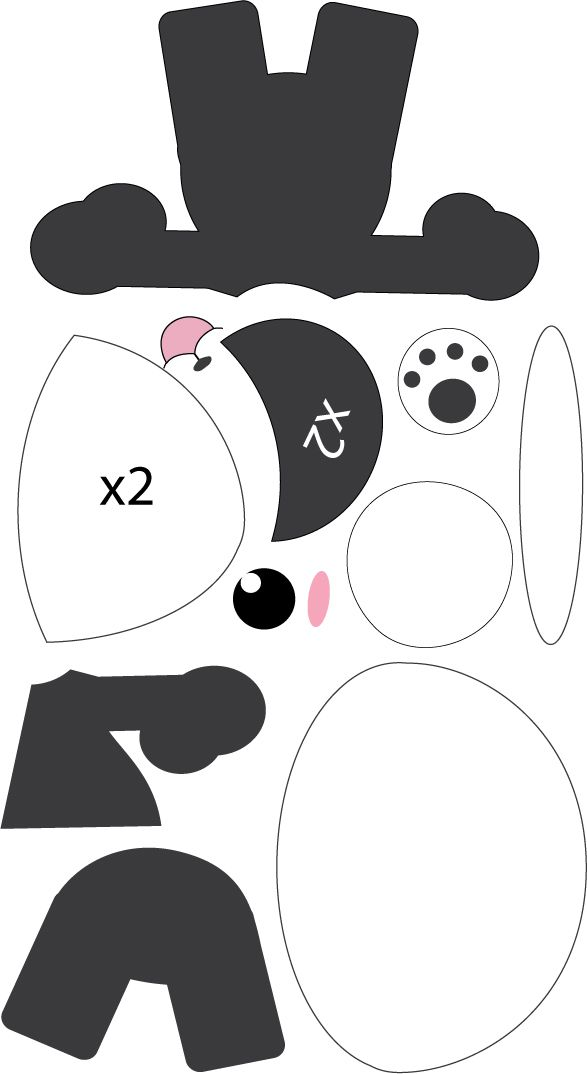 Panda pattern by Mokulen22.deviantart.com on @deviantART | Moldes ...