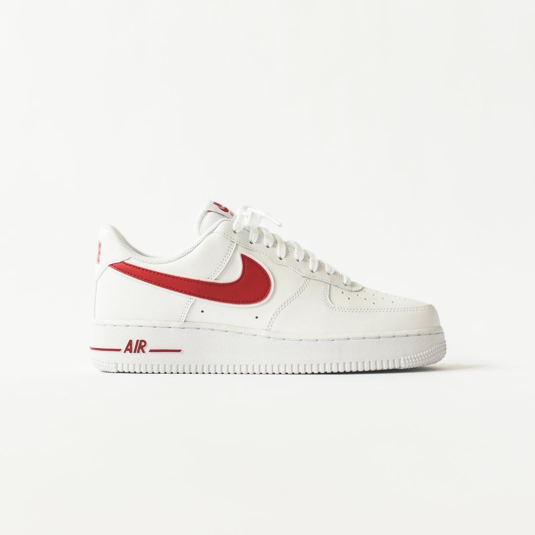 Nike Air Force 1 '07 3 White Gym Red in 2020 | Air force