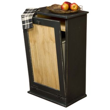 Solid Wood Tilt Out Trash Bin Cabinet With 13 Gal Insert Liner Handcrafted From Pine Fully Embled 32 Inch X 20 Michigan Made