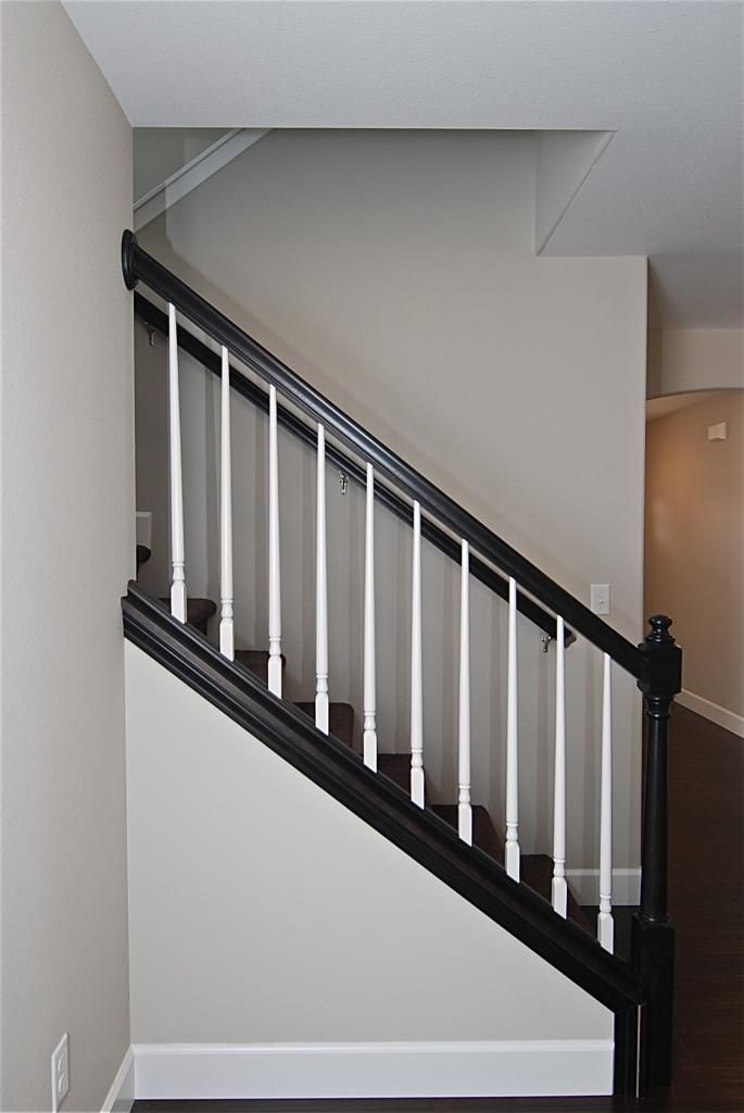 Best Upgraded Open Stair Rail System Espresso White Stairs 400 x 300
