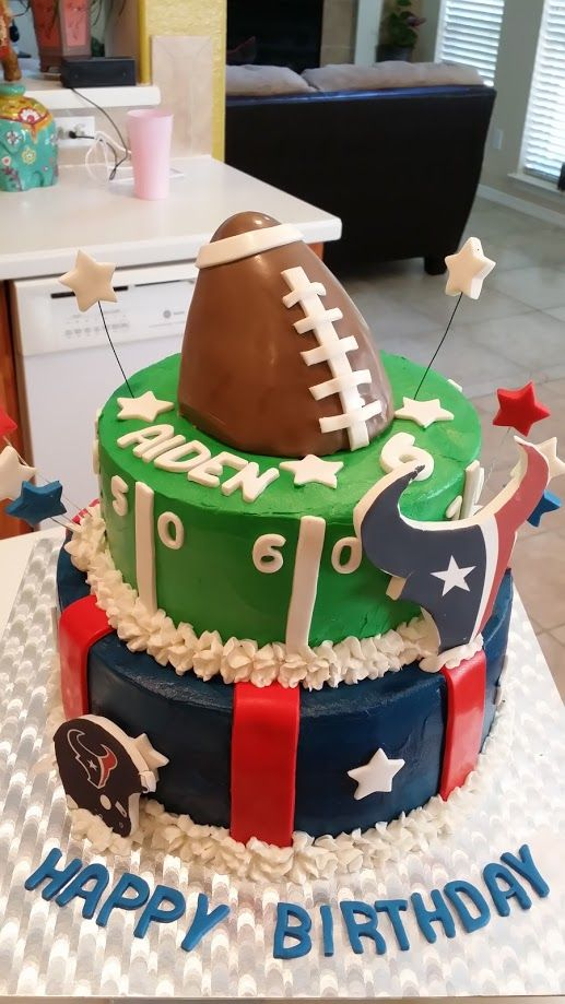 Awe Inspiring Texan Cake Texans Cake Sports Birthday Cakes Houston Funny Birthday Cards Online Chimdamsfinfo