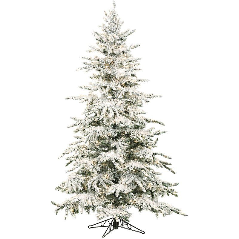 Shop Our Home The Lilypad Cottage Flocked Artificial Christmas Trees Pine Christmas Tree White Artificial Christmas Tree