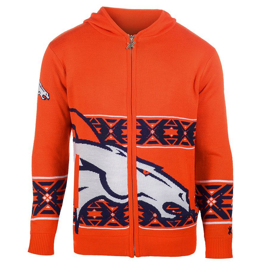 Denver Broncos Full Zip Hooded Sweatshirt from UglyTeams
