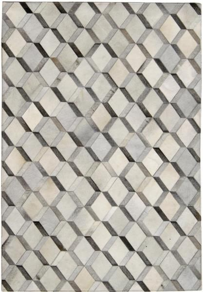 Madisons Grey 40D Diamond Pattern Cowhide Patchwork Rug Patchwork Delectable Diamond Pattern Rug