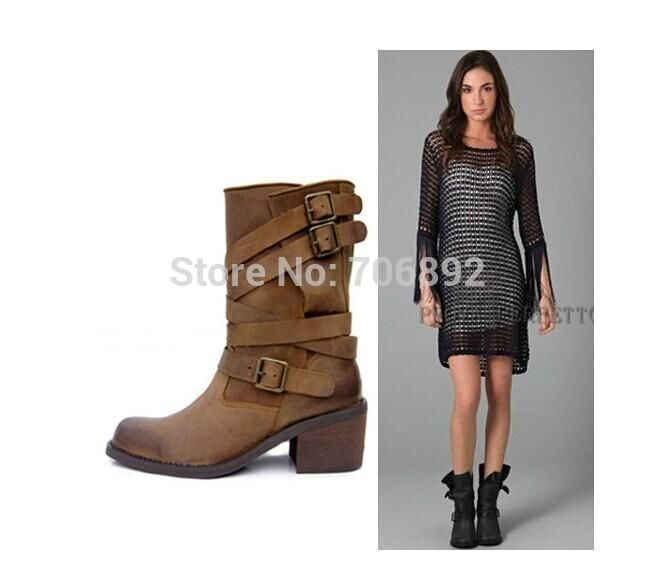 Ankle · Vintage Style Martin Motorcycle Boots Women ...