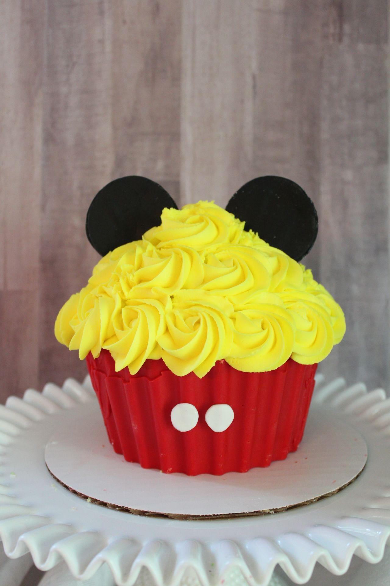 Mickey Mouse Jumbo Cupcake Smash Cake My Cakes In 2019