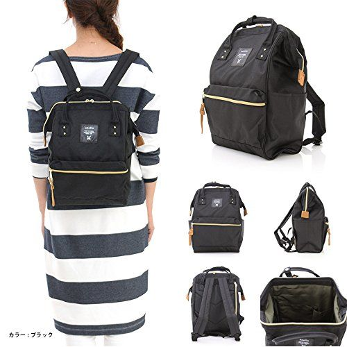 2fb555b27218 Japan Anello Backpack Unisex MINI SMALL BLACK Rucksack Waterproof Canvas  Campus Bag