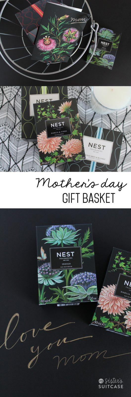 mothers day fragrance gift basket