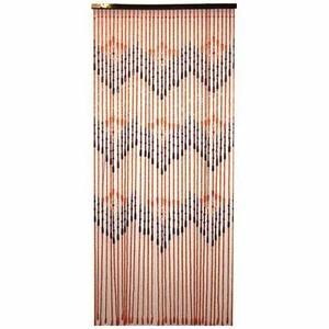 Rideau de porte perles en bois 90x200 cm ming ce rideau de porte en perles de bois - Rideaux de perles pour portes ...