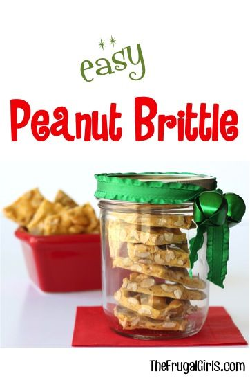 Easy peanut brittle recipe from thefrugalgirls this on the hunt for some fun homemade gifts in jars recipes gifts in a jar are always fun to make and make such great gifts too easter gifts in a jar negle Choice Image