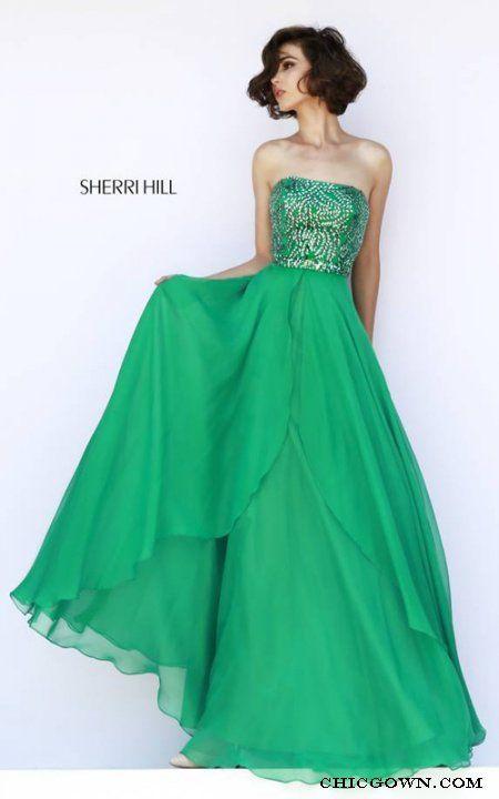 Sherri Hill 1941 Emerald Strapless Evening Dress · Strapless Prom  DressesProm Dresses 2015Evening DressesBeaded ...