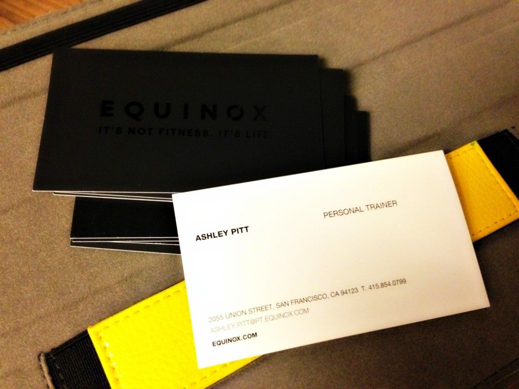 Equinox business cards fitcity business card pinterest equinox business cards easy mealsequinoxbay areabusiness reheart Choice Image