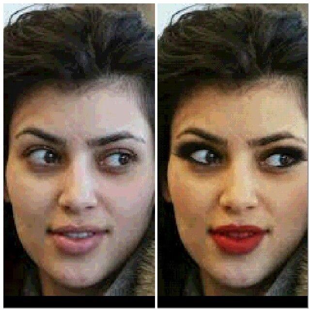 Remake I did # Kim kardashian red lipstick look.