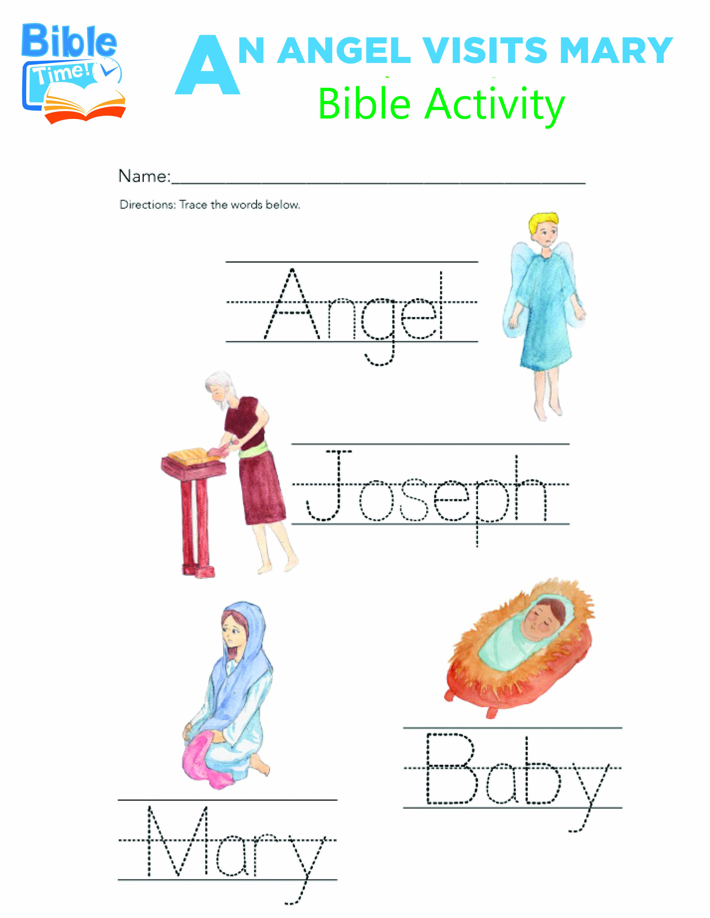 Free Preschool Bible Activities Kids Bible Printable