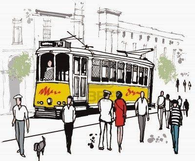 Il solito tram tram  Dal Pensierivendolo nel 2019  Pencil drawings Lisbon portugal e Drawings
