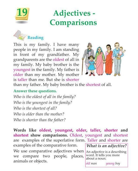 3rd Grade Grammar Comparison Of Adjectives Learn English Words Learn English Good Vocabulary Words