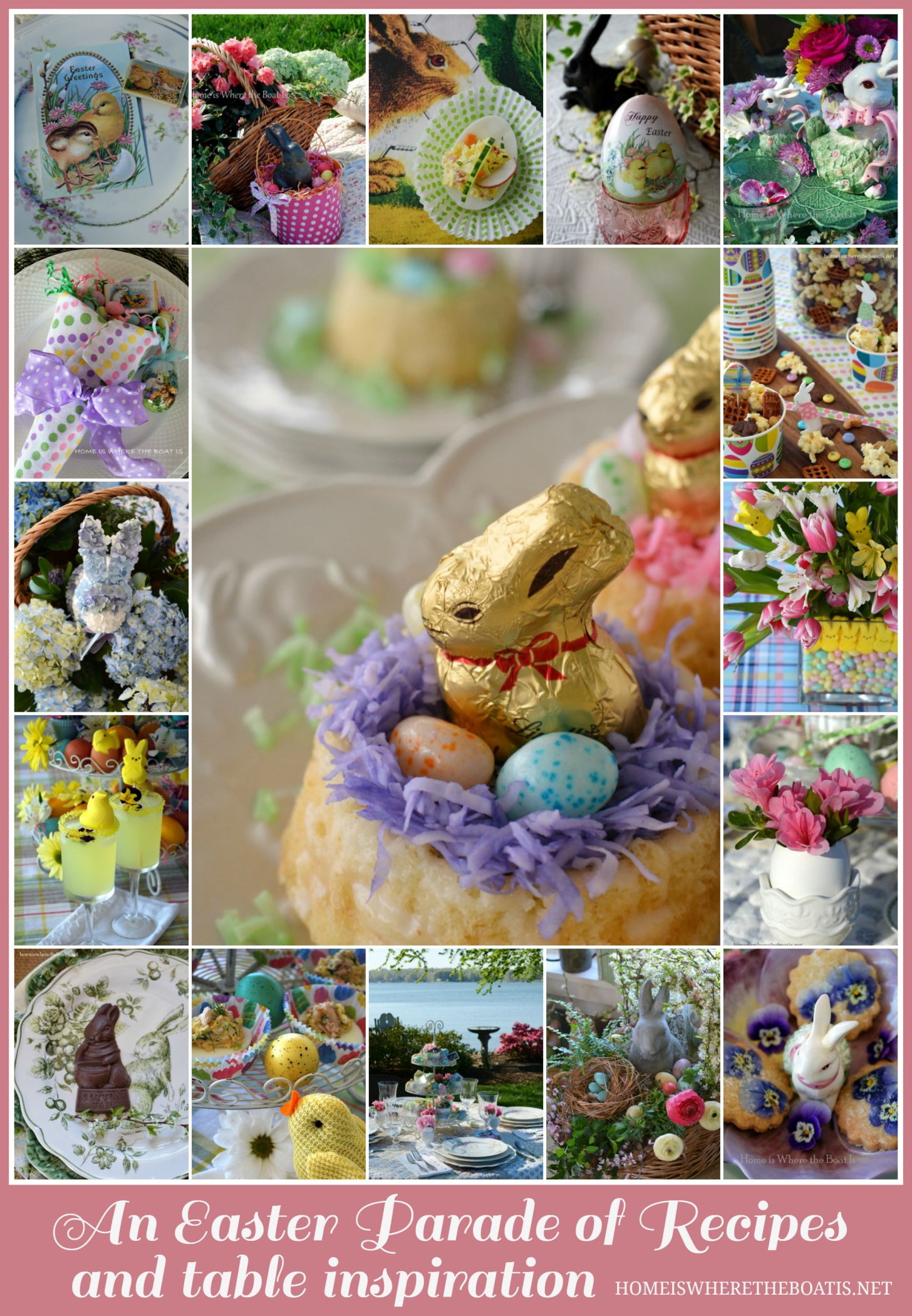 Easter's On Its Way: A Round-Up of Recipes and Table Inspiration! | homeiswheretheboatis.net #recipe #tablescape #Easter