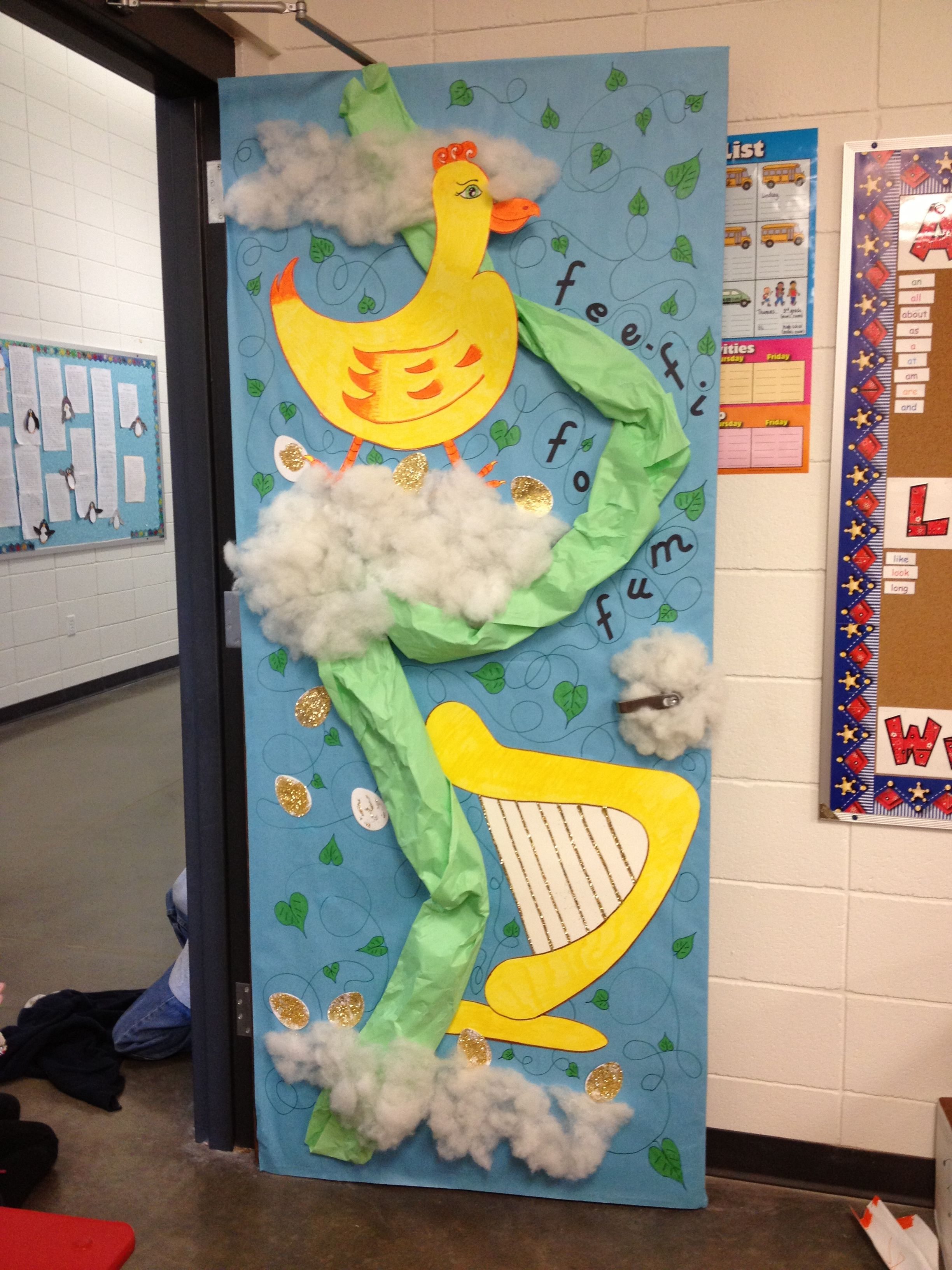 Jack And The Beanstalk Door Decor That Could Be Used As A
