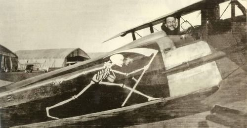 WW1  Grim reaper on fighter plane  | War | Plane, Nose art