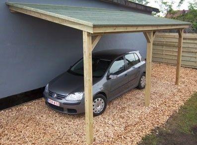 Nice Adossé, Cet Abri De Voiture En Bois Traité Autoclave Offre 15 M² De Surface  Pour
