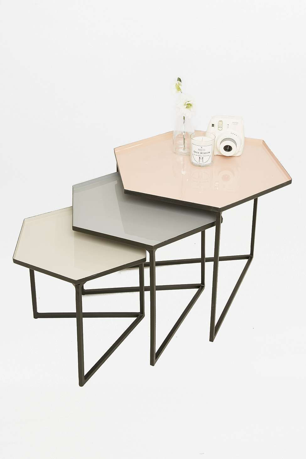 Hexagon Table Set | Living rooms, Center table and Room