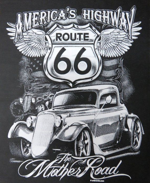 T Shirt 1934 3 Window Ford Coupe Americas Highway The