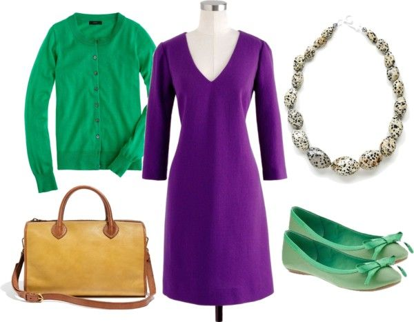 """""""Emerald Meets Plum"""" by kluster on Polyvore"""