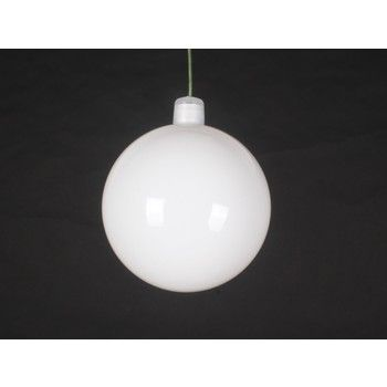 60mm Shiny White ball ornament with wire and UV Coating