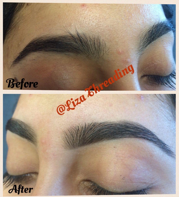 Beforeafter Eyebrow Threading At Liza Threading Eyebrow Threading