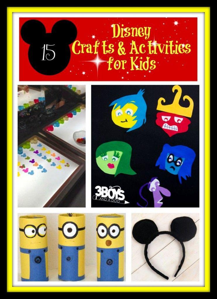 15 Disney Crafts And Activities For Kids Disney Activities