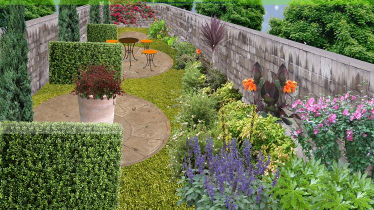 plan de jardin troit cr er un jardin en longueur garden pinterest gardens. Black Bedroom Furniture Sets. Home Design Ideas