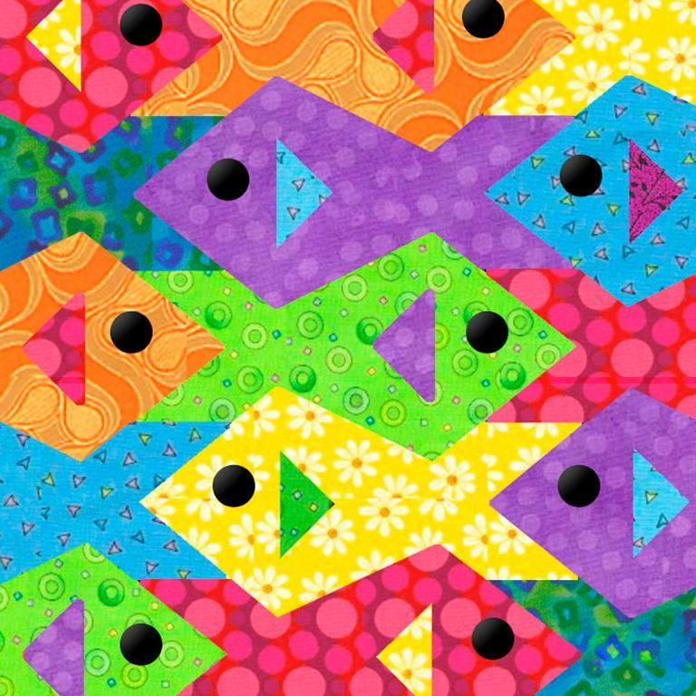Tessellating Fish Paper Pieced Quilt Paper Pieced Quilts Fish And
