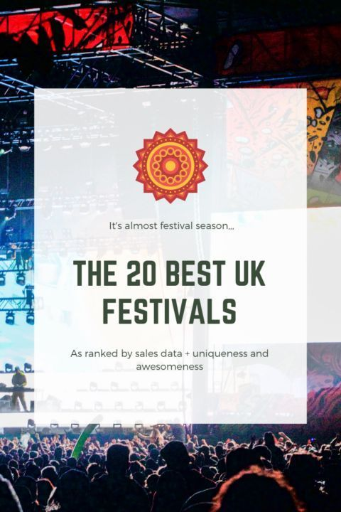The 20 Best UK Music Festivals - a guide based mostly on sales data, but on awesomeness + uniqueness as well :P These UK festivals are of all different genres, lineups, locations, and crowds, but all are at the forefront of the festival scene in the United Kingdom. #festivalseason #ukfestivals #musicfestival #musicfestivals #festivalinspo #festivalfashion