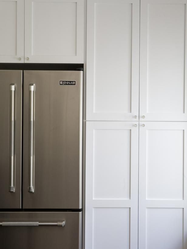 Kitchen Cabinets Around Refrigerator Could Do This But Just Put A