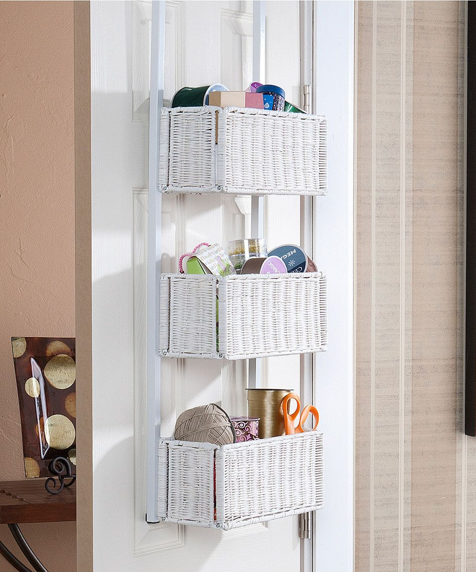 Over the Door Hanging Cosmetic Organizer with Mirror . A