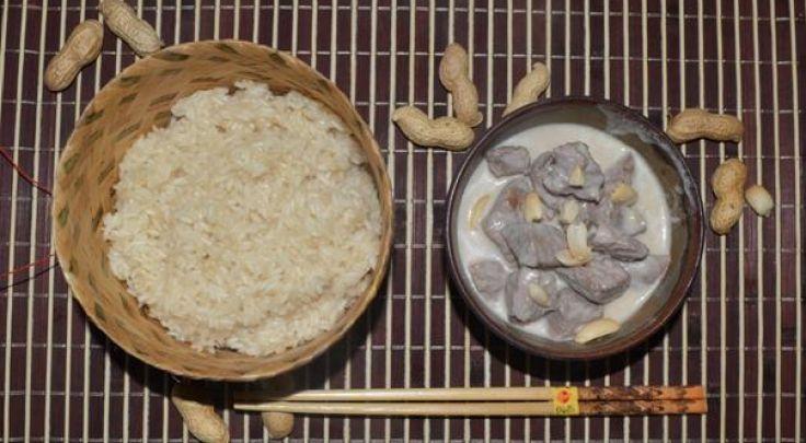 Rindfleisch in Erdnusssoße  - nussig lecker