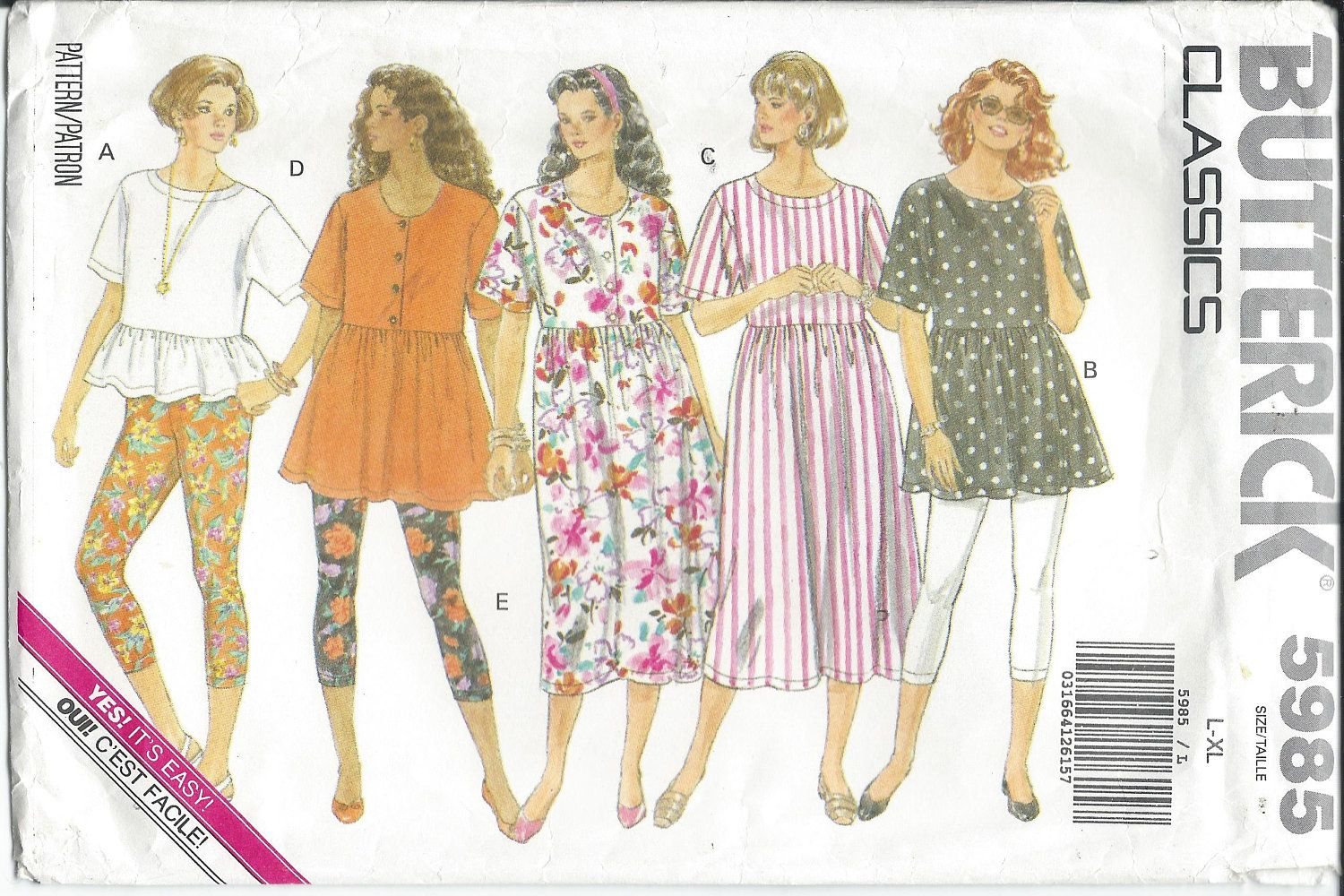 Butterick 5985 misses dress tunic top leggings sewing butterick 5985 misses dress tunic top leggings sewing pattern jeuxipadfo Image collections