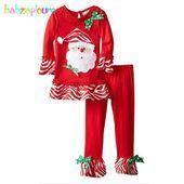 Santa Pattern Kinder Mädchen Kleidung Herbst Winter Lon 2pcs A041 #autumn #Baby…