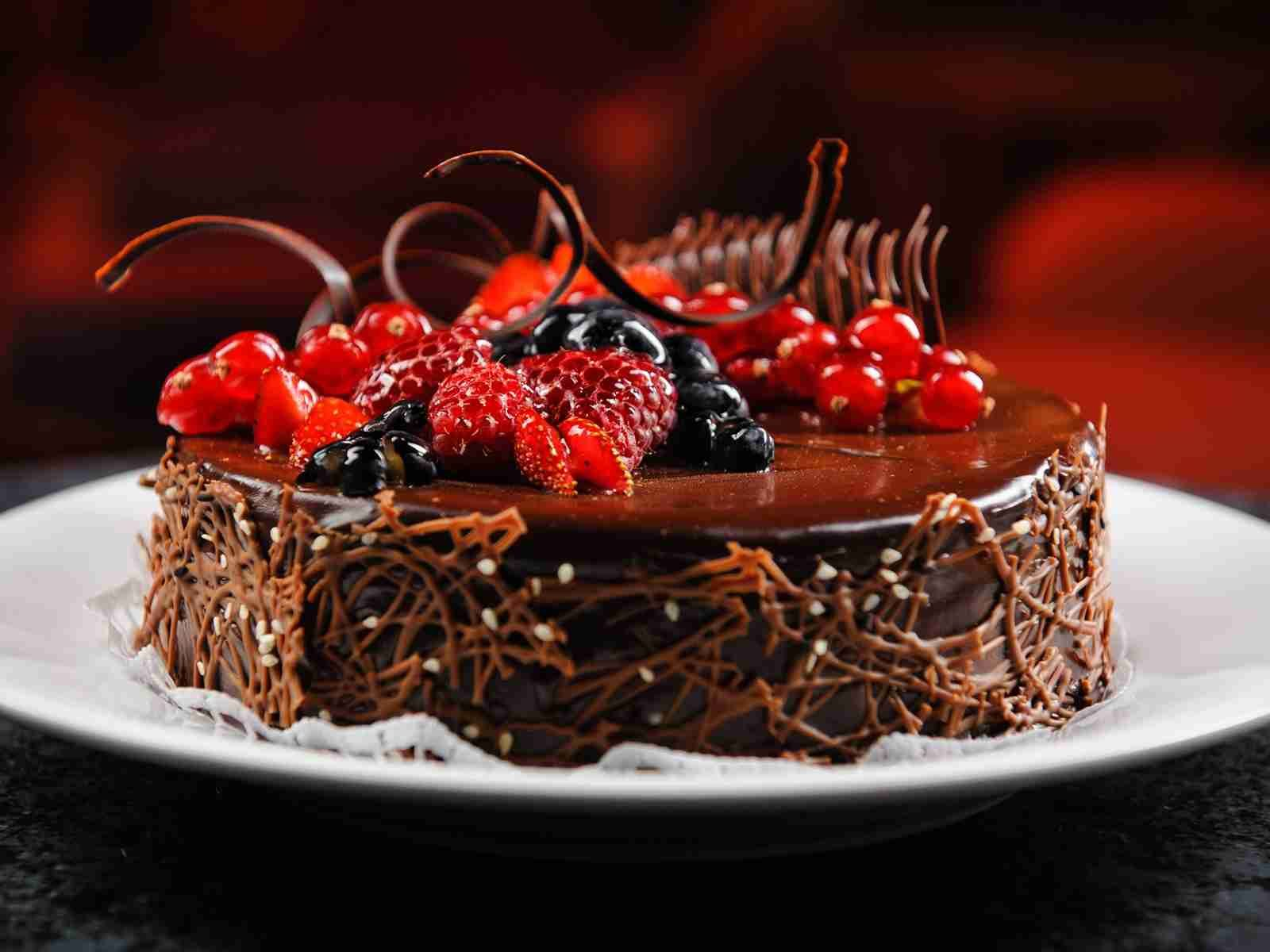 Birthday chocolate fruit cake pic more on httphbdwishcom