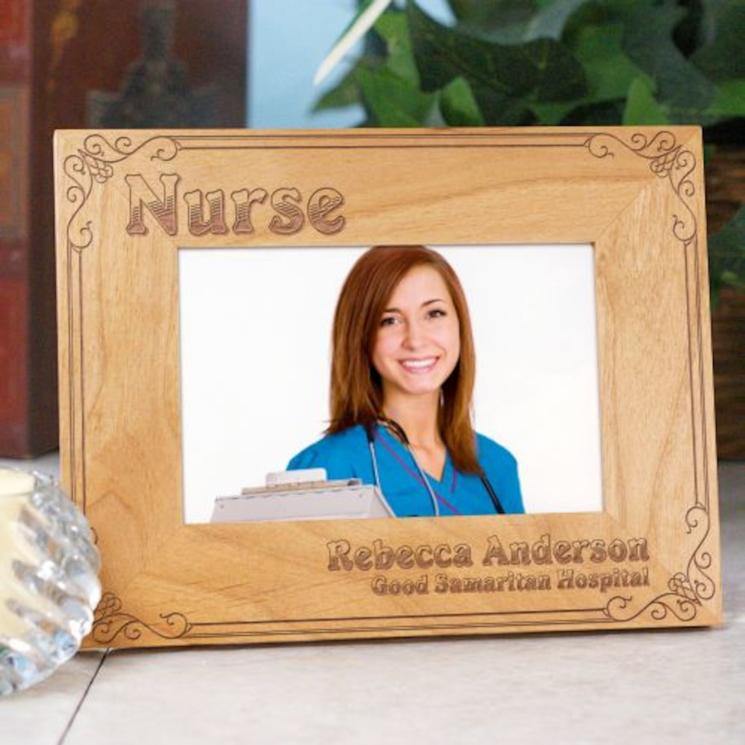 Personalized Nurse Wood Picture Frame | Products | Pinterest