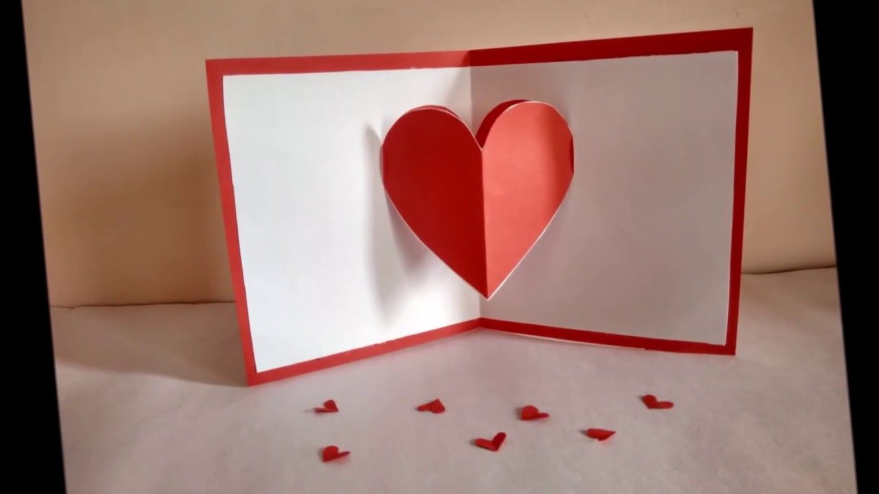 Heart Pop Up Card By Zainab Heart Pop Up Card Valentines Cards Pop Up Card Templates