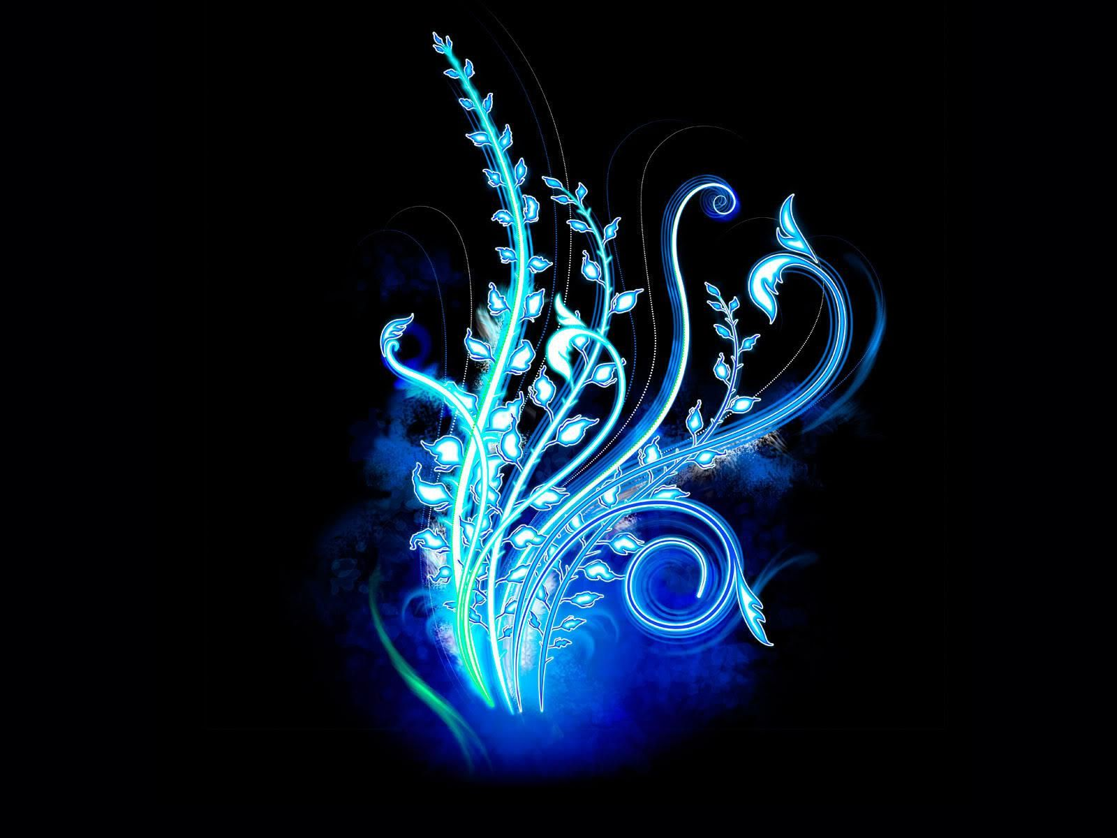 Cool Neon Blue Designs