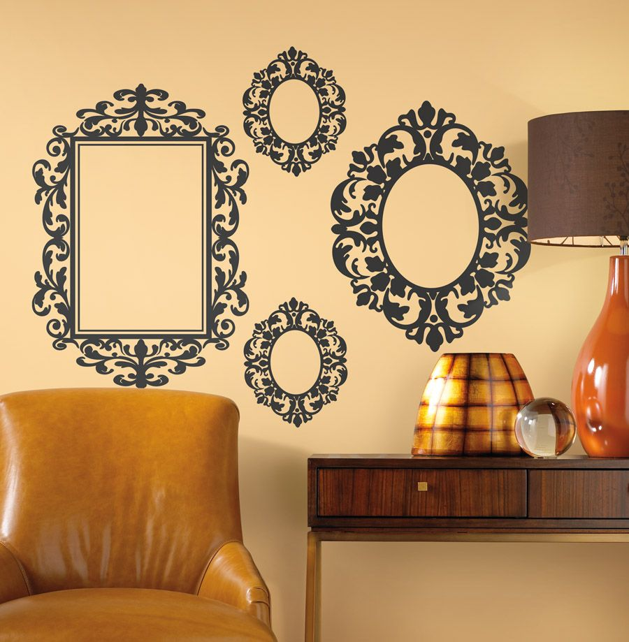 Wall frames - peel & stick | Picturesque | Pinterest | Wall decals ...