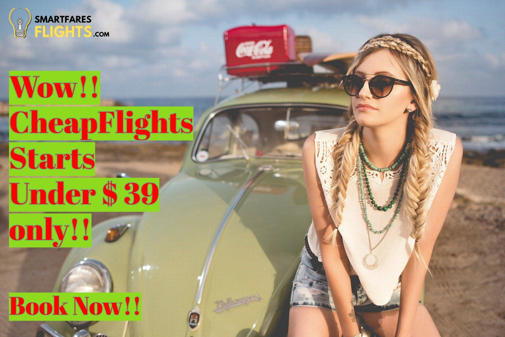You can Book one of the most beautiful destination on very low fare with SmartFaresflights.com !! CheapFlights Under $ 39.  #Cheapflights #Lowerflightfare #Travel #Travelpinterest #Flights