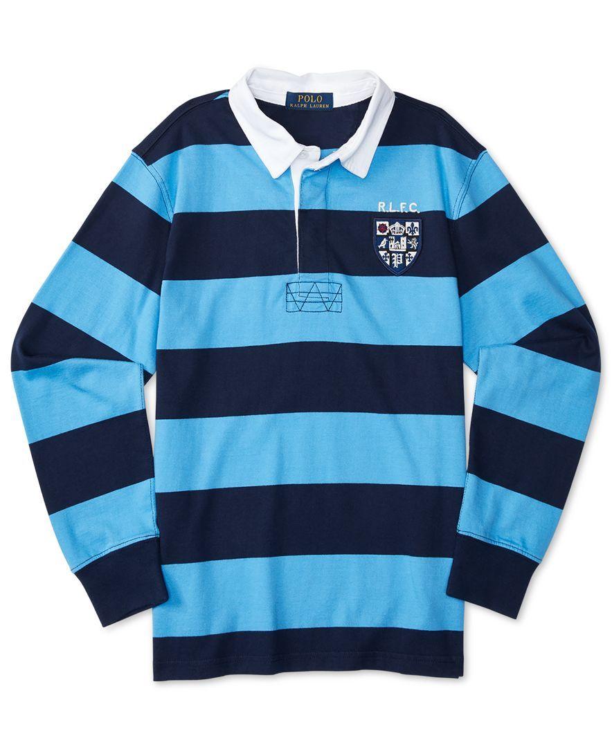 Ralph Lauren Boys Striped Rugby Shirt